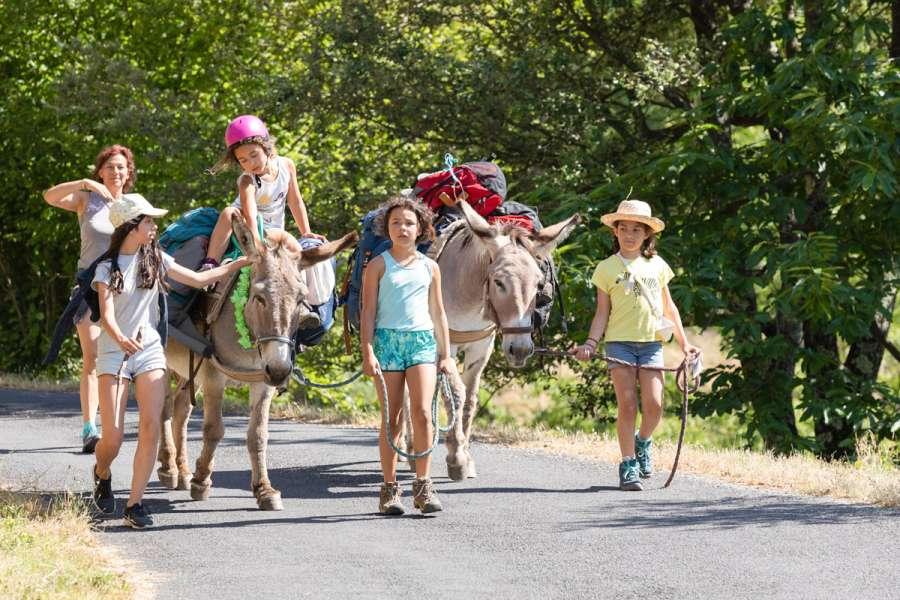 Wandern mit Kleinkindern und Esel - Wanderung